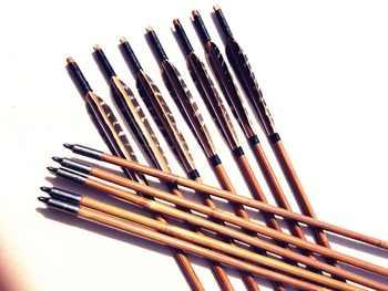 6/12/24PK eagle feather arrow bamboo genuine hand arrow bamboo recurve archery bow