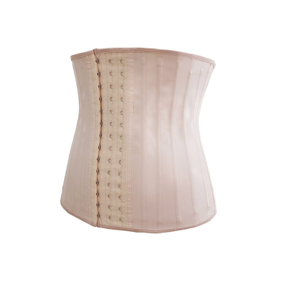 9f353329ce3 Black Beige Plus Size 25 Steel Boned Latex Waist Trainer Corset Underbust  Strong Compression Body Shaper slimming Body Girdles