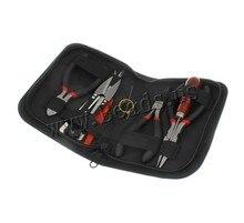 7 unids/set herramienta de equipos de sistema punzón / de los alicates / tijeras / pinzas alicates de la joyería de corte cadena ronda rebordeando haciendo Kit de herramientas de reparación