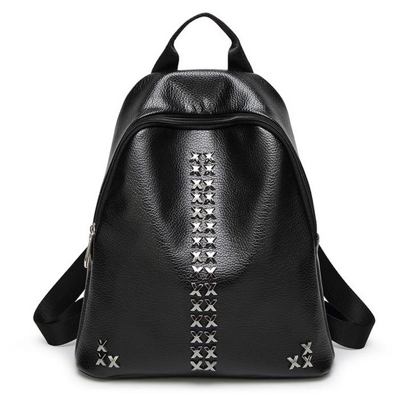 ФОТО 2016 women backpack fashion women PU leather Backpacks ladies girls school bags shoulder bags female bag