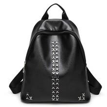 2016 женщины рюкзак моды женщины ИСКУССТВЕННАЯ кожа Рюкзаки дамы девушки школьные сумки сумки на ремне женская сумка