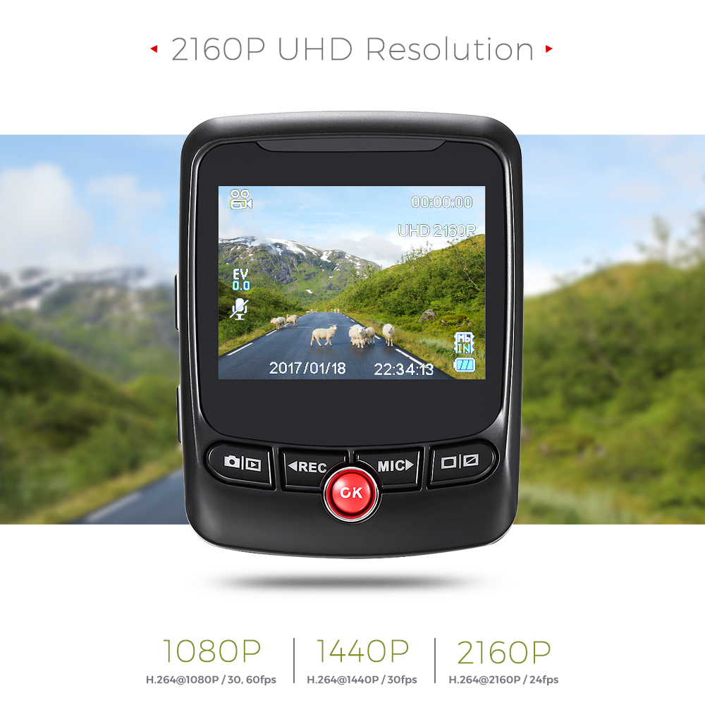 ZEEPIN T690C Novatek 96663 Car  Dash Cam Camcorder Hidden 170 Degree 2160P UHD GPS Logger G-Sensor Car Driving Video Recorder