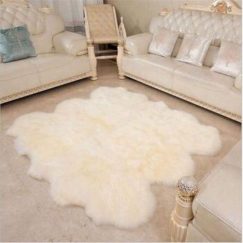 Чистый шерстяной Большой ковер для гостиной, спальни, кровати, мягкий нежный ковер, домашний пол, детский коврик для зала, модный домашний ко...