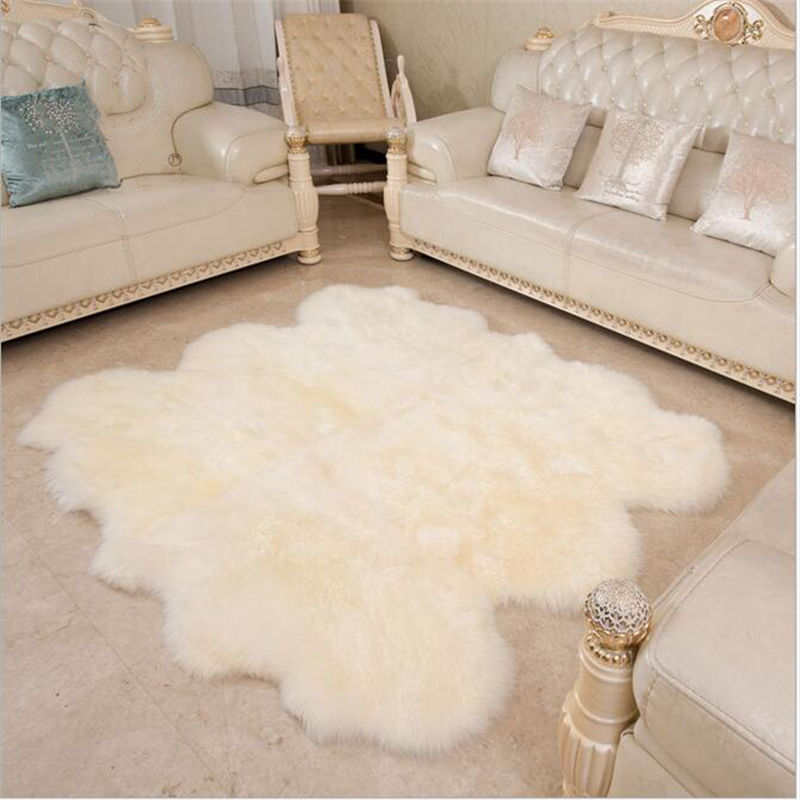 Pure Wool Large Carpet For Living Room Bedroom Bed Soft Delicate Rug Home Floor Kid Climb Meeting Room Fashion Home Mat Simple