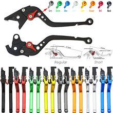 Короткие и длинные для Kawasaki ZX6R ZX636R ZX6RR 2000 2001 2002 2003 2004 ZX10R 2004-2005 мотоцикла, настраиваемый, CNC сцепные рычаги