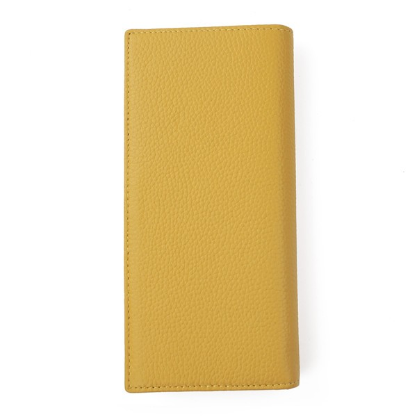 FancyStyle Women\'s RFID Blocking Wallet Clutch Long Bifold Pebbled Genuine Leather Travel Business Credit Card Holder Yellow (8)