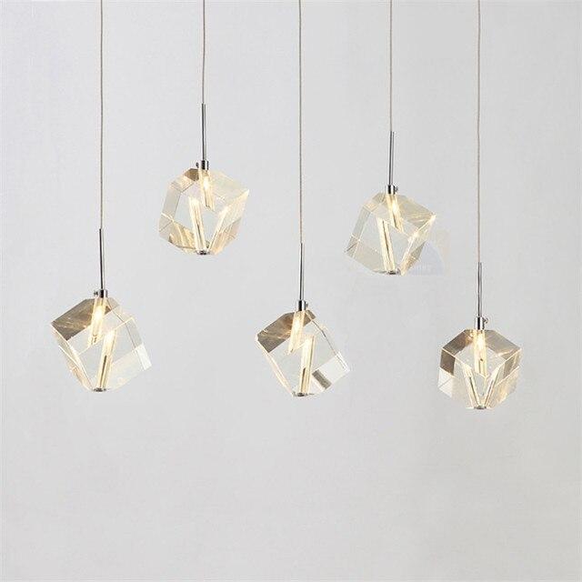 Contemporáneo Colgante de Cristal accesorios de Iluminación Bar ...