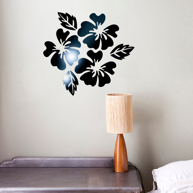 modern 3d mirror style wall stickers removable decal self adhesive