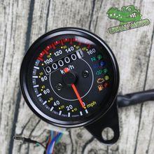 Retro motorcycles custom universal mini Stainless steel mechanical odometer speedometer mash