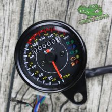 Retro motorcycles custom universal mini Stainless steel mechanical odometer speedometer mash