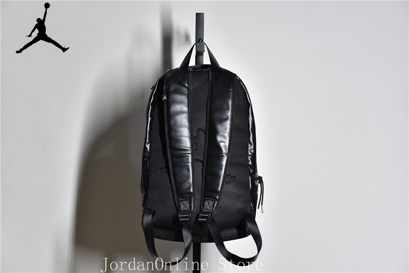 e0749511c1a949 Jordan Retro Sport Bags Men and Women Bookbag PU Leather Climbing Laptop  Bag Sport Backpack Bag Black Color Good quality-in Basketball Shoes from  Sports ...