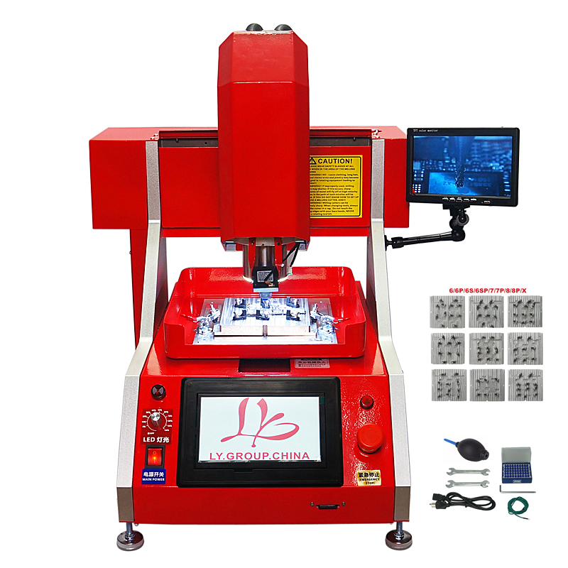 Auto Mobile Phone Chip Repair CNC Milling Polishing Engraving Machine LY 1002 IC Router With 9pcs Mold For All IPhone Main Board