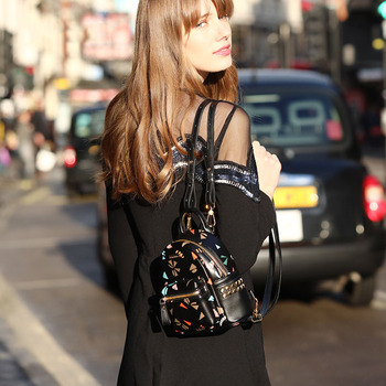 mini fashion women backpack Korea ulzzang style kawaii back pack pattern soft skin Small bag