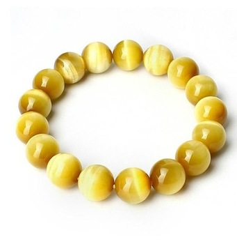 bracelet oeil de tigre jaune
