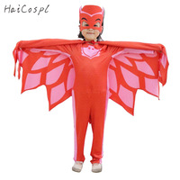 PJ Masks Costume Set Kid Anime Cosplay Hero Connor Greg Amaya Clothes Halloween Party Cloak Cape