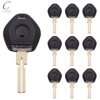 Cocolockey Car Key Transponder Key Shell Fob Case Fit For BMW 3 5 7 Z3 Chip Keys Blank With Board HU58 Uncut Blade 5pcs/lot