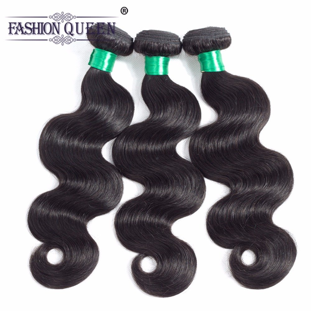 Indian Body Wave Hair Bundles 100% Human Hair Extensions 8-28inch 3 Pieces Non Remy Hair Weaving Natural Color