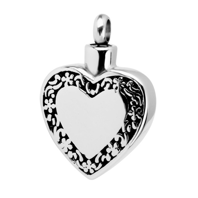 Lace Heart Urn Pendant