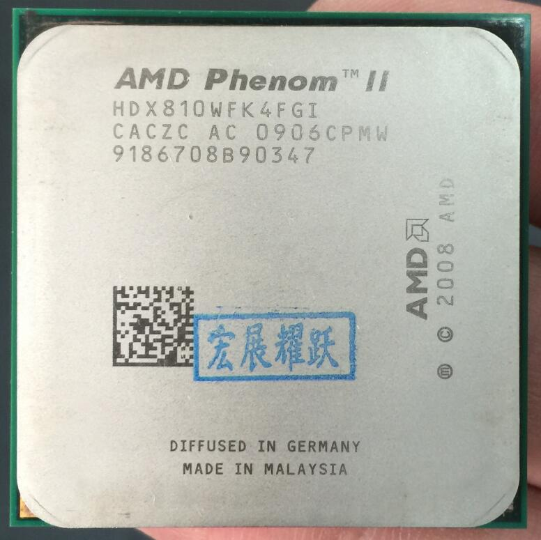 AMD Phenom II X4 810 - HDX810WFK4FGI  Quad-Core AM3 938 CPU 100% Working Properly Desktop Processor