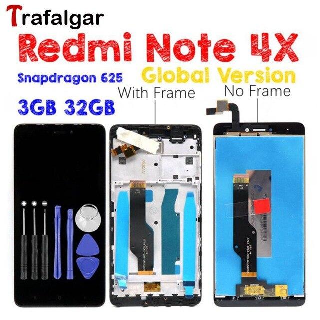Versión Global Xiaomi Redmi nota 4X pantalla LCD pantalla táctil ...