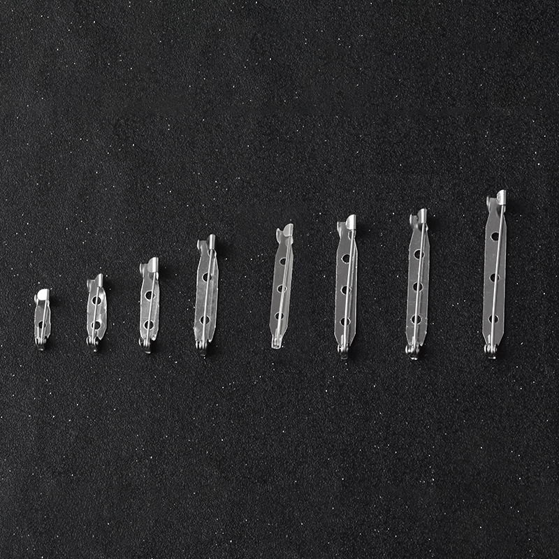 20pcs/pack Brooch Base 1.5cm-4.5cm Metal Pins Back Back Bar Badge Holder Safety Lock Brooch Pins DIY Jewelry Accessory Parts
