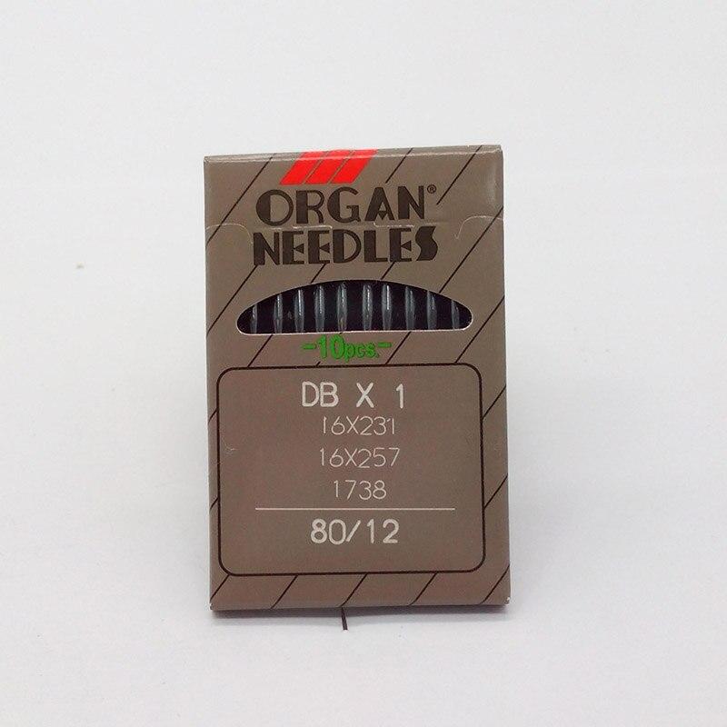 e67ebd7383 10 pz Organo Ago Per Cucire Macchina Industriale DBx1 16X231 16X257 1738 per  Brother (80/12)