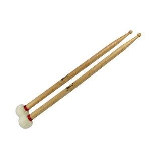 1 пара Мягкая войлочная головка и 5B головка для езды Cymbal Duplex Gong молоток барабан палочки двойной конец идеальный вес и баланс