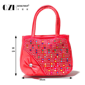 Girl handbag kids tote Hot Selling Kids Girls Fashion Handbags Children Shoulder Zipper Party Messenger Bags for girl 1