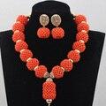 Удивительные Африканских Коралловые Бусы Женщины Ювелирные Изделия Позолоченные Ожерелья Из Бисера Кулон Ювелирные Изделия Бесплатная Доставка CNR691