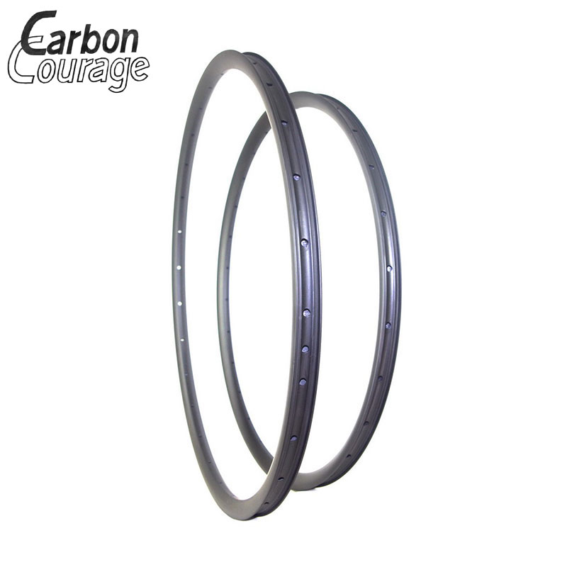 Bicycle Rim 700C 29er MTB XC 35mm Width Hookless Asymmetric Carbon Rim Clincher Tubeless UD 3K Matte Glossy 32 Holes 29 Inch Mtb