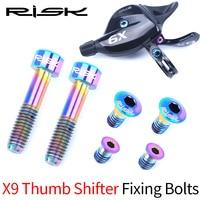 RISK Titanium Alloy Screw Kits for sram Front Derailleurs Fixing GX/Eagle/X9/X01/X01Eagle/XX1 Trigger Fixed Bolts Hollow Design