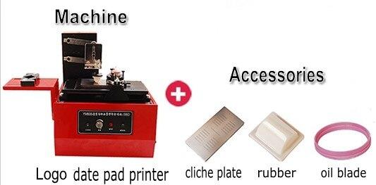 Desktop electric pad printer machine Printing for product date, small logo print