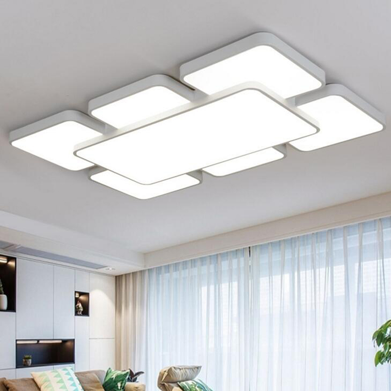 Rectangular living room light wrought iron LED ceiling lamps lighting modern minimalist bedroom lights restaurant lights led rectangular europe living room crystal lights led ceiling lamps bedroom modern minimalist dining room lighting high quality