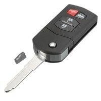4 Düğme 315Hz Araba Çevirme Anahtar Giriş Uzaktan Fob + Transponder Çip 63 Için Mazda/SKE12501/MX-5/Miata