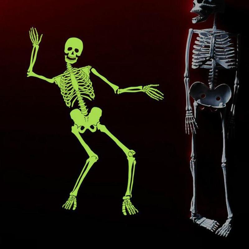 halloween dancing skull luminous decoration diy halloween party skeleton wall decals self adhesive festive events supplies - Dancing Halloween