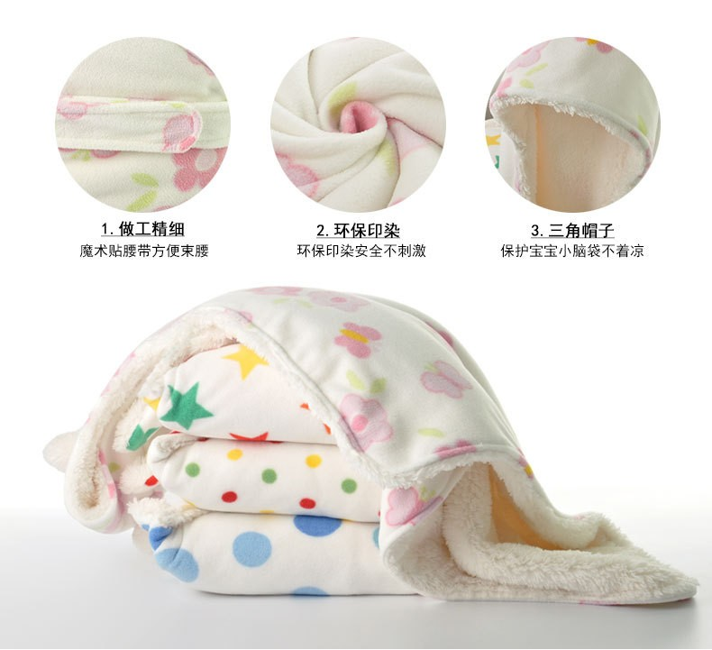 fccd7bb0c5d1 Winter Baby Swaddle Wrap BabySwaddling Blankets Newborn Infant Towel ...