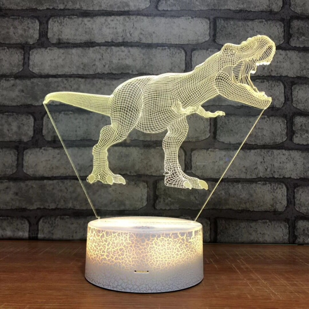 Raptor Tyrannosaurus Rex  Dinosaur Gift 3D Night Light Table Lamp 7 Colors Changing Desk Lamp 3D Lamp Novelty Led Night Lights