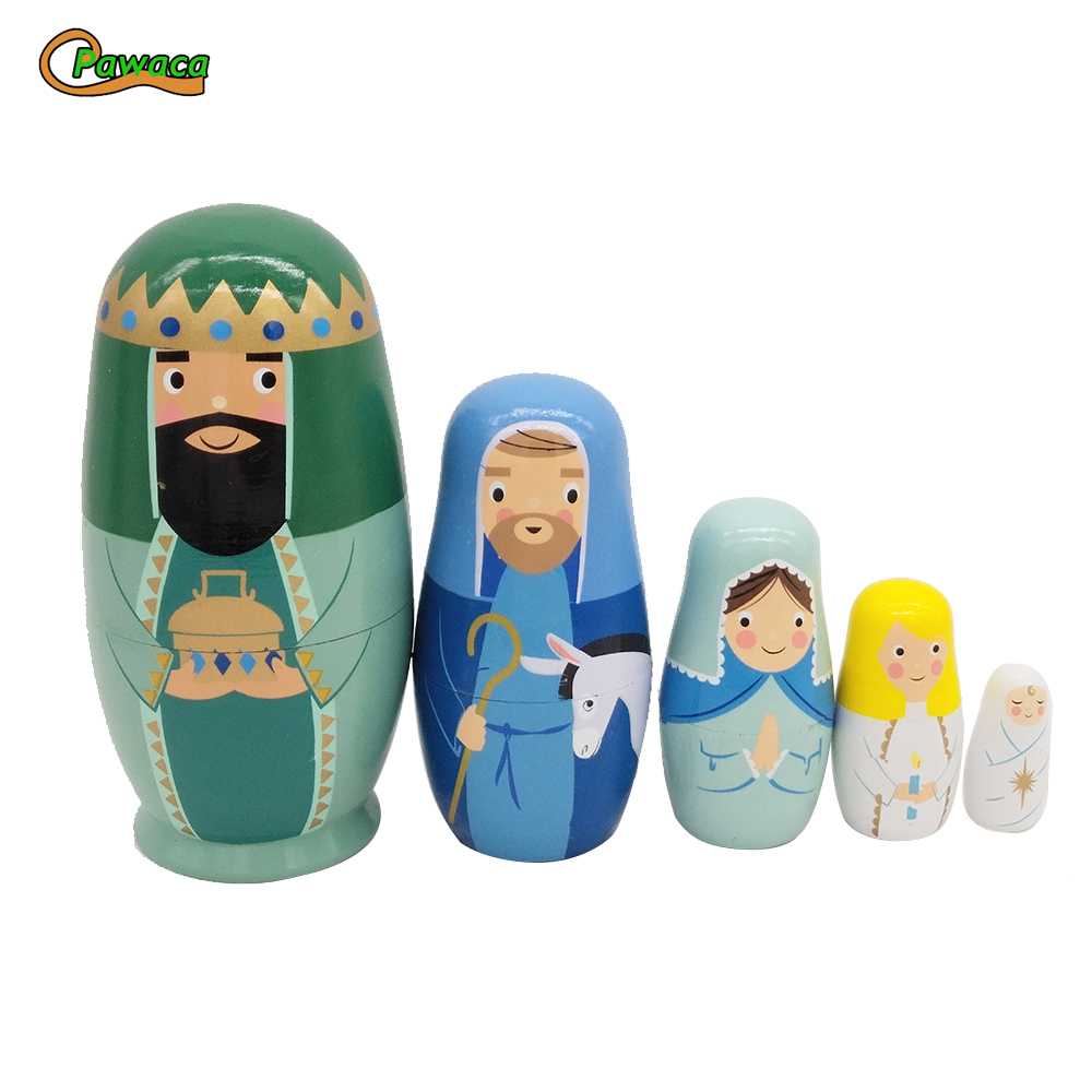 Figurines & Miniatures Home & Garden Frank 5pcs/set Animal Kings Snowman Russian Dolls Hand Painted Home Decor Birthday Gifts Baby Toy Nesting Dolls Wooden Matryoshka Set