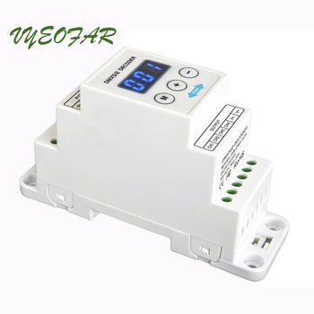 New New DIN-DMX-4CH LED DMX512 Decoder;DC5-24V input;4A*4CH output 4 Channel DIN Rail LED RGB;RGBW Strip DMX512 Decoder