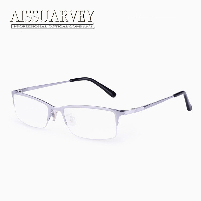 7ed13f97e067 Detail Feedback Questions about Men Glasses Frames Titanium Optical  Eyeglasses Prescription Half Rim Fashion Brand Designer Eyewear Reading  Computer Goggles ...