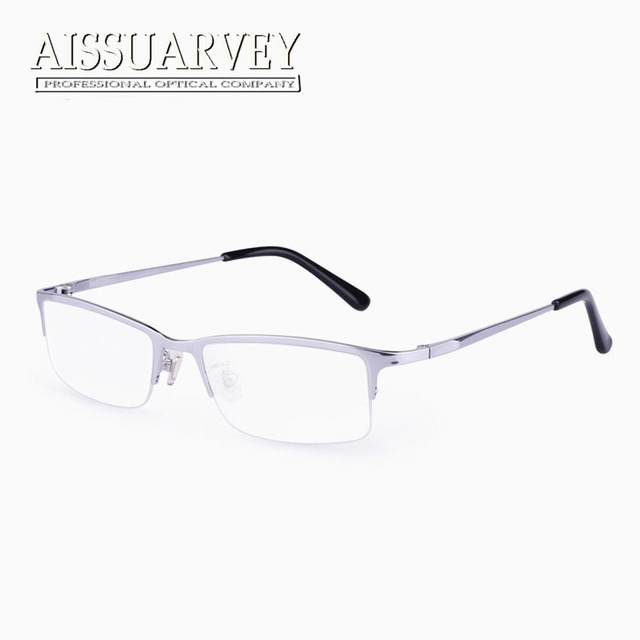 d3226951b4 Men Glasses Frames Titanium Optical Eyeglasses Prescription Half Rim Fashion  Brand Designer Eyewear Reading Computer Goggles
