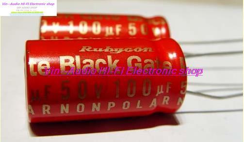 1PCS The best recognized capacitance Rubycon BlackGate STD