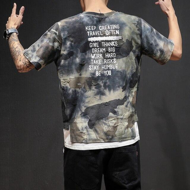 9a11c592 ... Men design Tshirt cool short Sleeve Tactical Camouflage maleT shirt