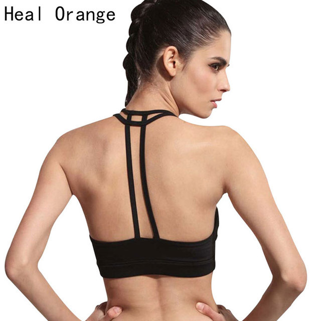 40557b40a20fb HEAL ORANGE Classic Women s Sport Bra With Pad No-Bounce Full-Support Sport  Comfort No Rims Unbound Lady s Yoga Running Gym Bras