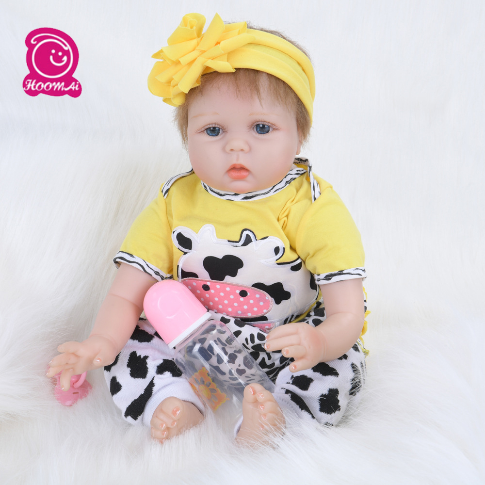 55CM Adorable Brown Curved Mohair Baby Dolls Soft PP Cotton Body Alive Reborn Doll Early Education Doll for Kids  birthday gift55CM Adorable Brown Curved Mohair Baby Dolls Soft PP Cotton Body Alive Reborn Doll Early Education Doll for Kids  birthday gift