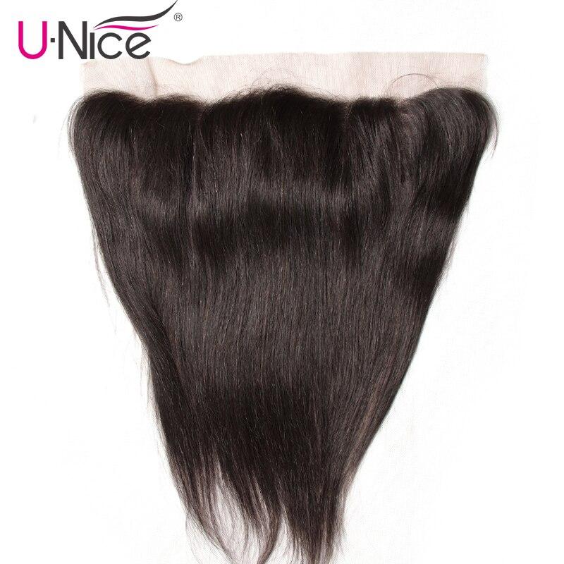 UNice Hair Icenu Series Remy Hair Malaysian Straight Hair Lace Frontal 13 x4 Ear to Ear