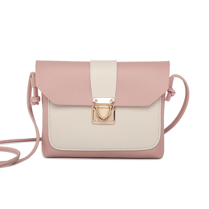 women small patchwork shoulder bag ladys mini cute solid color handbag cover lock opening bag cross body bolsas feminina