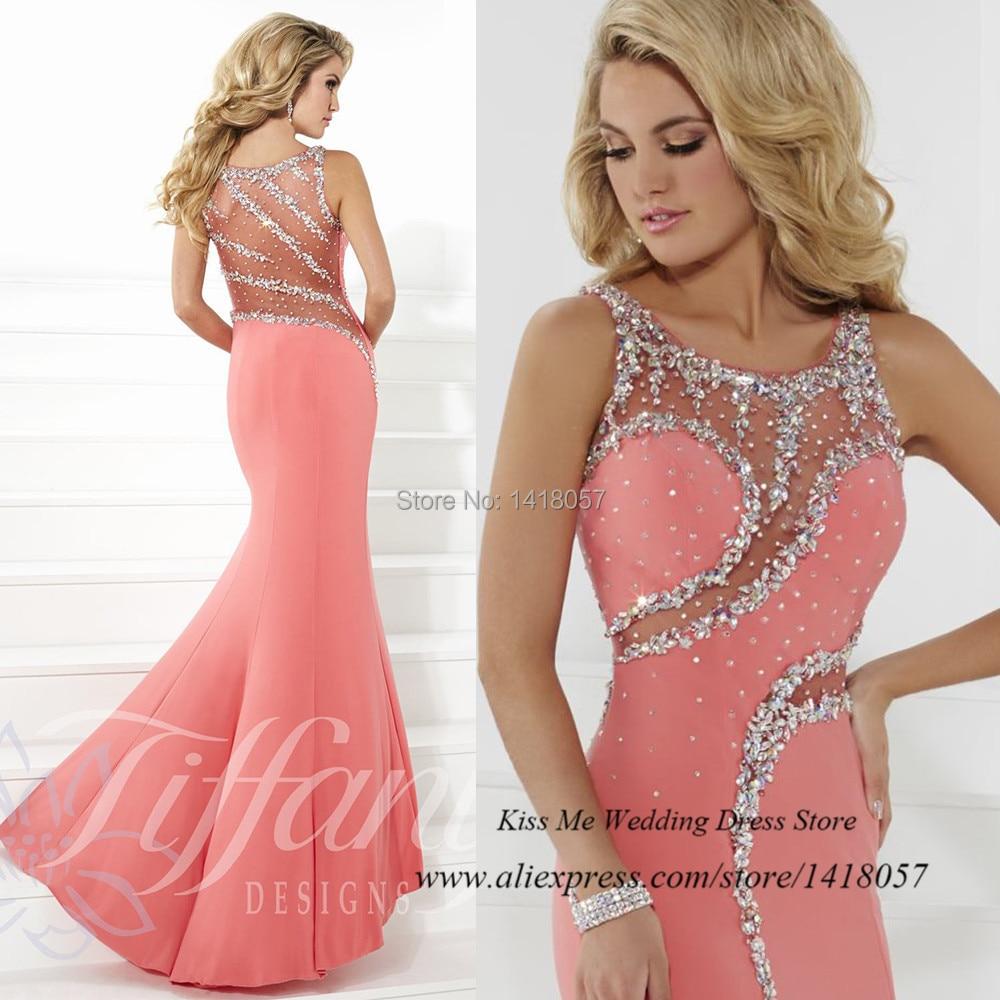 Venta caliente Blush largo sirena vestidos fiesta 2015 vestidos ...