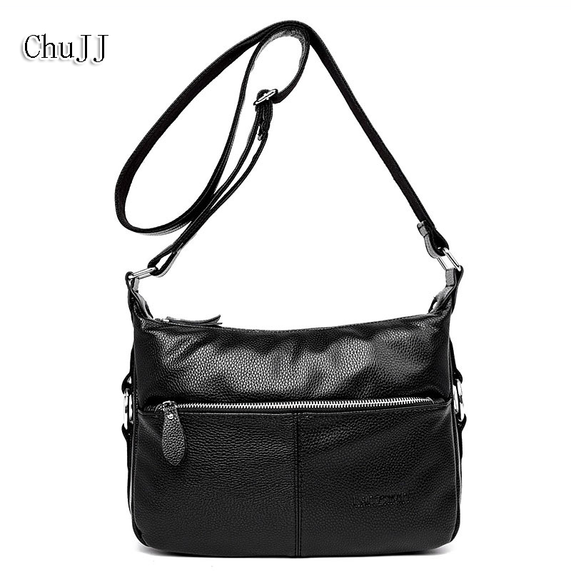 Women's Genuine Leather Handbags Casual All-match Shoulder CrossBody Bags Ladies Fashion Messenger Bag Women Bags fashion women genuine leather handbags totes bags crossbody women s shoulder bag casual ladies travel messenger bag high quality