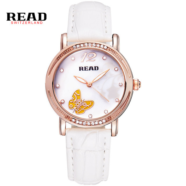 READ New fashion ladies leather women watch white quartz watches 21494